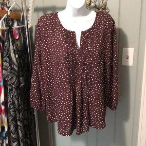 Collective Concept plum blouse size large